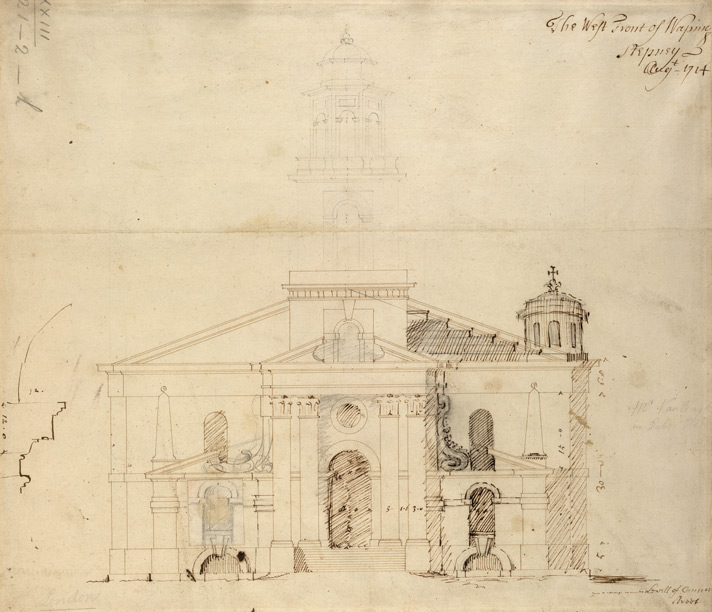The west front of Wapping, Stepney Augt 1714